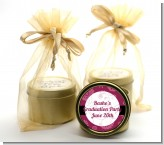 Maroon Floral - Graduation Party Gold Tin Candle Favors