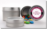 Maroon Floral - Custom Graduation Party Favor Tins