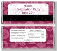 Maroon Floral - Personalized Graduation Party Candy Bar Wrappers thumbnail