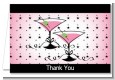 Martini Glasses - Bridal Shower Thank You Cards thumbnail