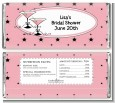Martini Glasses - Personalized Bridal Shower Candy Bar Wrappers thumbnail
