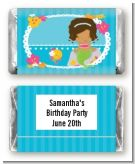 Mermaid African American - Personalized Birthday Party Mini Candy Bar Wrappers