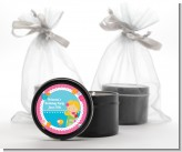 Mermaid Blonde Hair - Birthday Party Black Candle Tin Favors
