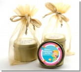 Mermaid Blonde Hair - Birthday Party Gold Tin Candle Favors