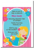 Mermaid Blonde Hair - Birthday Party Petite Invitations