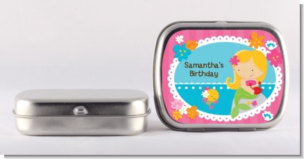 Mermaid Blonde Hair - Personalized Birthday Party Mint Tins