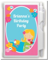 Mermaid Blonde Hair - Birthday Party Personalized Notebook Favor