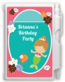 Mermaid Brown Hair - Birthday Party Personalized Notebook Favor thumbnail