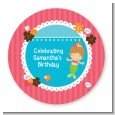 Mermaid Brown Hair - Personalized Birthday Party Table Confetti thumbnail