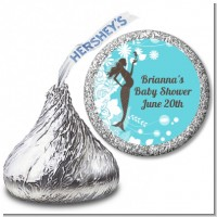 Mermaid Pregnant - Hershey Kiss Baby Shower Sticker Labels