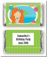 Mermaid Red Hair - Personalized Birthday Party Mini Candy Bar Wrappers