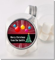 Merry and Bright - Personalized Christmas Candy Jar