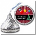 Merry and Bright - Hershey Kiss Christmas Sticker Labels thumbnail