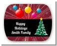 Merry and Bright - Personalized Christmas Rounded Corner Stickers thumbnail