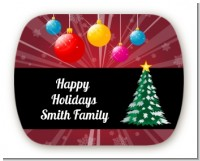 Merry and Bright - Personalized Christmas Rounded Corner Stickers