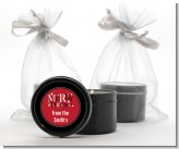Merry Christmas - Christmas Black Candle Tin Favors