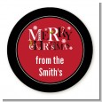 Merry Christmas - Round Personalized Christmas Sticker Labels thumbnail