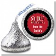 Merry Christmas - Hershey Kiss Christmas Sticker Labels thumbnail