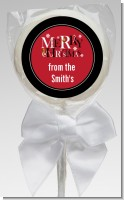 Merry Christmas - Personalized Christmas Lollipop Favors