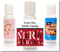 Merry Christmas - Personalized Christmas Lotion Favors