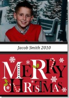 Merry Christmas - Personalized Photo Christmas Cards