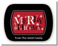 Merry Christmas - Personalized Christmas Rounded Corner Stickers thumbnail