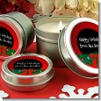 Merry Christmas Wreath - Christmas Candle Favors thumbnail