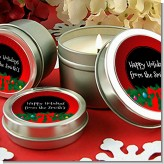 Merry Christmas Wreath - Christmas Candle Favors