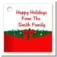 Merry Christmas Wreath - Personalized Christmas Card Stock Favor Tags thumbnail