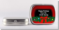 Merry Christmas Wreath - Personalized Christmas Mint Tins