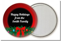Merry Christmas Wreath - Personalized Christmas Pocket Mirror Favors