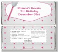 Microphone - Personalized Birthday Party Candy Bar Wrappers thumbnail