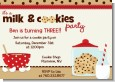 Milk & Cookies - Birthday Party Invitations thumbnail