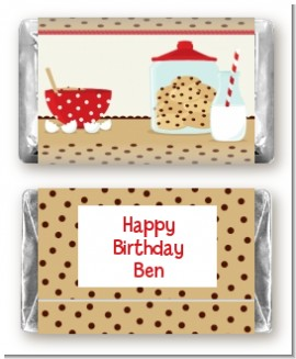 Milk & Cookies - Personalized Birthday Party Mini Candy Bar Wrappers