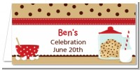 Milk & Cookies - Personalized Birthday Party Place Cards