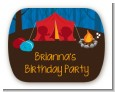 Camping - Personalized Birthday Party Rounded Corner Stickers thumbnail