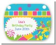 Candy Land - Personalized Birthday Party Rounded Corner Stickers thumbnail