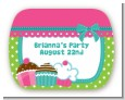 Cupcake Trio - Personalized Birthday Party Rounded Corner Stickers thumbnail