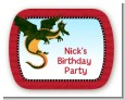 Dragon and Vikings - Personalized Birthday Party Rounded Corner Stickers thumbnail