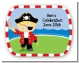 Pirate - Personalized Birthday Party Rounded Corner Stickers thumbnail