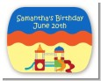Playground - Personalized Birthday Party Rounded Corner Stickers thumbnail