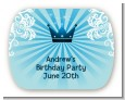 Prince Royal Crown - Personalized Birthday Party Rounded Corner Stickers thumbnail