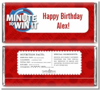 Minute To Win It Inspired - Personalized Birthday Party Candy Bar Wrappers
