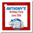 Minute To Win It Inspired - Personalized Birthday Party Card Stock Favor Tags thumbnail