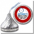 Minute To Win It Inspired - Hershey Kiss Birthday Party Sticker Labels thumbnail
