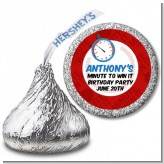 Minute To Win It Inspired - Hershey Kiss Birthday Party Sticker Labels