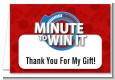 Minute To Win It Inspired - Birthday Party Thank You Cards thumbnail