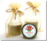 Mistletoe - Christmas Gold Tin Candle Favors