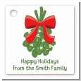 Mistletoe - Personalized Christmas Card Stock Favor Tags thumbnail