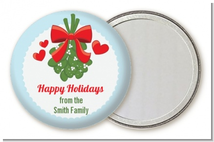 Mistletoe - Personalized Christmas Pocket Mirror Favors